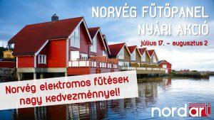 Norvég elektromos fűtés nordart akció