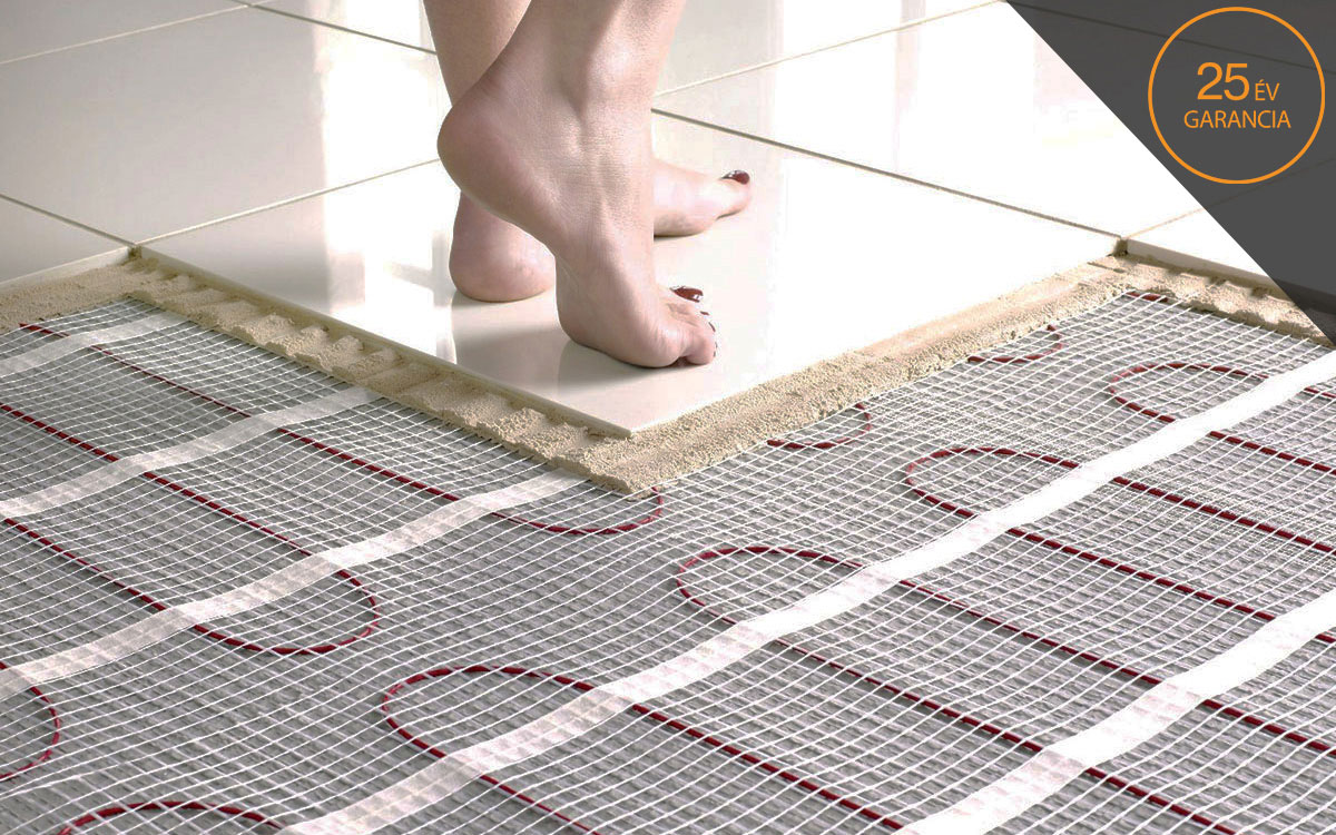 Elektromos padlófűtés hideg burkolat alá, gazdaságos fűtőszőnyeg