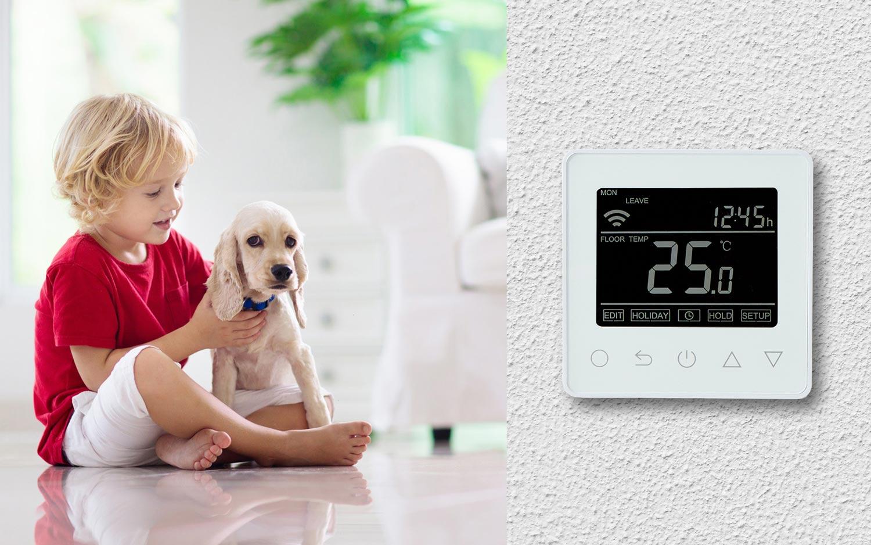 Elektromos padlófűtés vezérlők, termosztátok