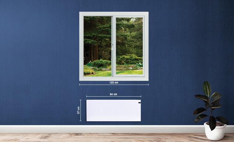 Adax Neo 1200W elektromos norvég fűtés